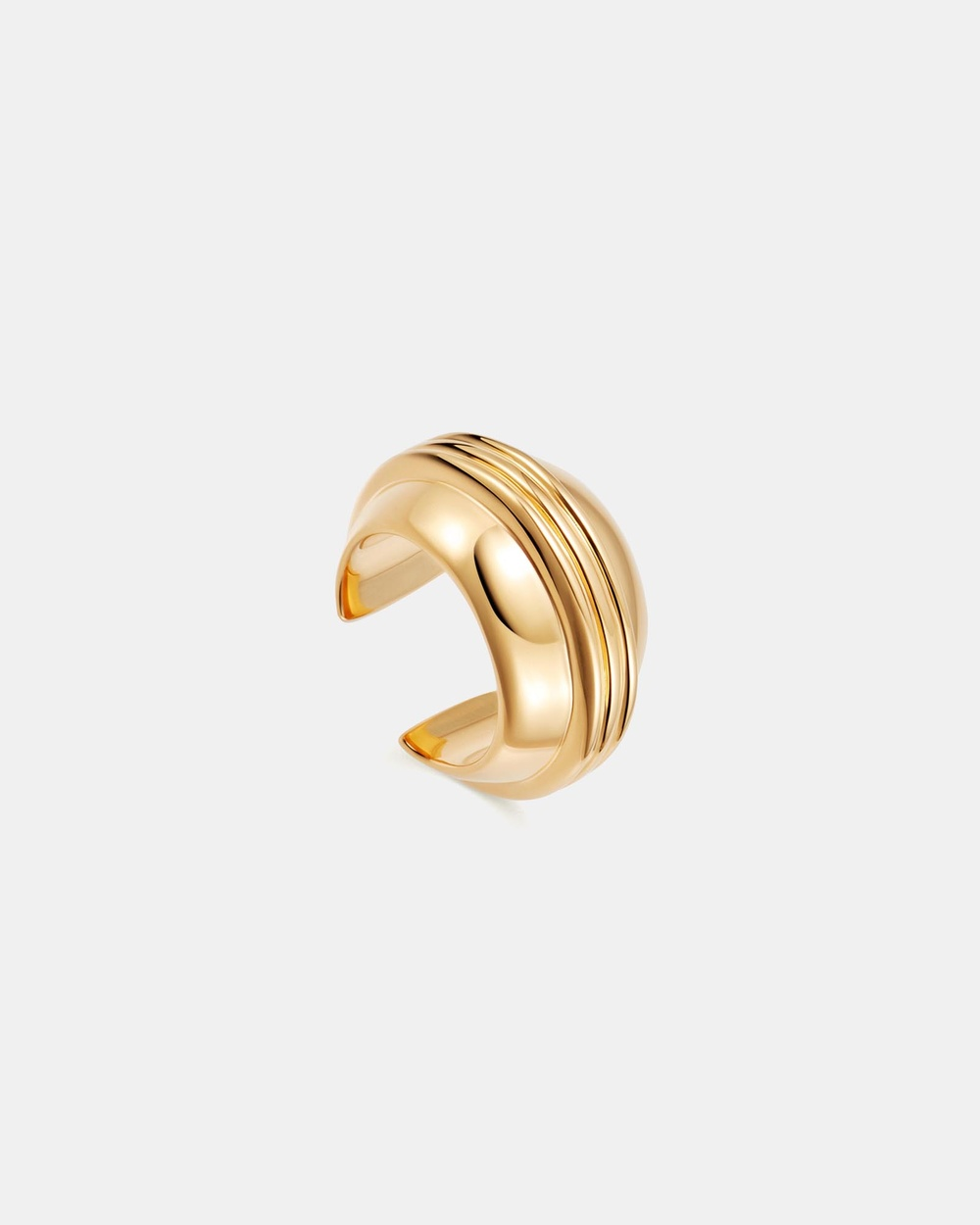 Missoma Sphere Ridge Ear Cuff Jewellery Gold