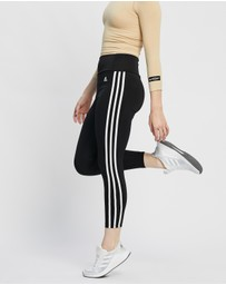 adidas Performance - Designed To Move High Rise 3-Stripes 7/8 Sports Tights