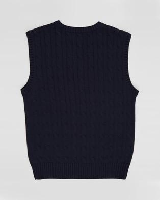 Polo Ralph Lauren Sweater Vest Top   Teens - Jumpers & Cardigans (Navy)