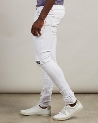 Justin Cassin Ryan Ripped Jeans - Relaxed Jeans (White)
