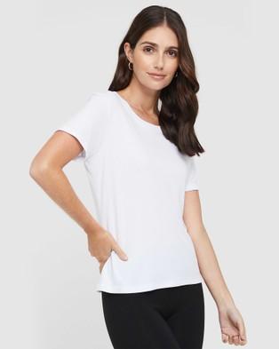 Bamboo Body Classic Crew Neck Short Sleeve T-Shirts White