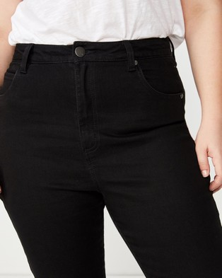 Cotton On Curve Curve Adriana High Skinny Jeans - High-Waisted (Black)