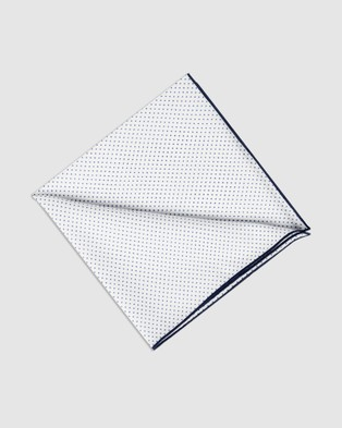 Buckle Spot Pocket Square - Pocket Squares (Black/White)