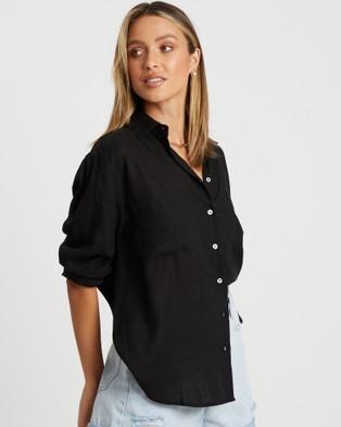 Calli Elita Button Shirt - Shirts & Polos (Black)
