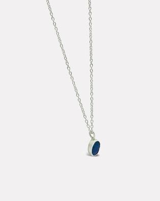 Ichu Oval Opal Necklace - Jewellery (Silver)