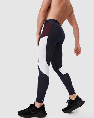 Cotton On - Active Tech Leggings Full Tights (True Navy Blocked)