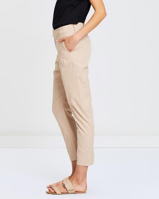 Privilege Cropped Pants - Pants (Sand)