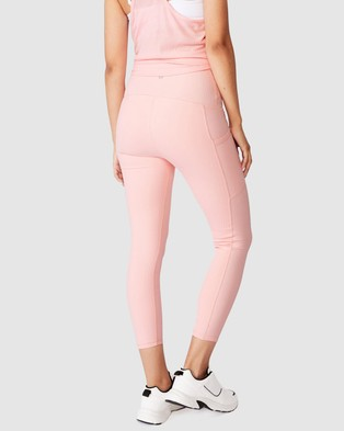 Cotton On Body Active Maternity Rib Pocket 7 8 Tights - 7/8 Tights (Pink)