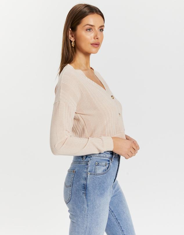 Women Jael Rib Knitted Cardigan Top
