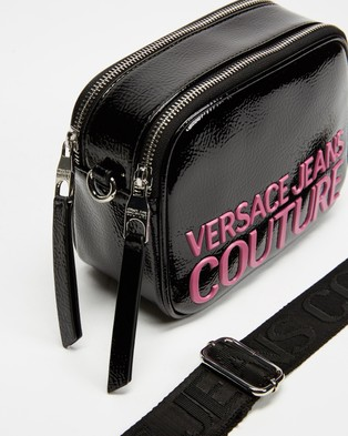 Versace Jeans Couture Small Logo Cross Body Bag - Bags (Black & Pink)