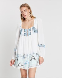 Free People - Rhiannon Embroidered Mini Dress