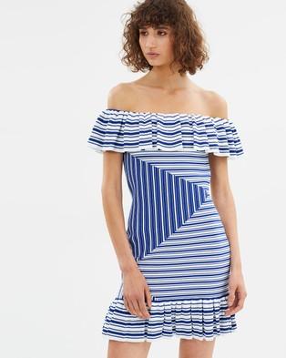 Rebecca Vallance – Corsica Mini Dress – Bodycon Dresses Navy Stripe