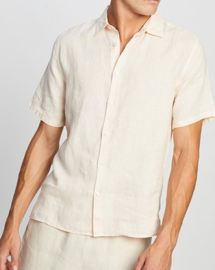 Assembly Label Casual Short Sleeve Shirt - Casual shirts (Coral)