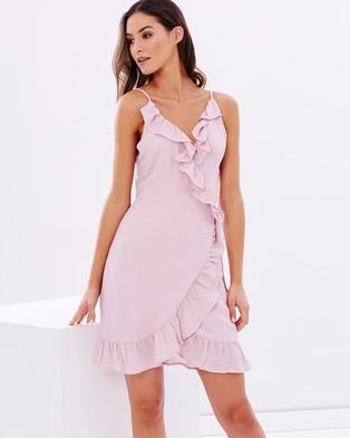 Lioness – Caliente Ruffle Dress – Dresses (Blush)