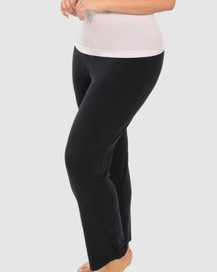 B Free Intimate Apparel Bamboo Classic Straight Leg Pants - Sleepwear (Black)