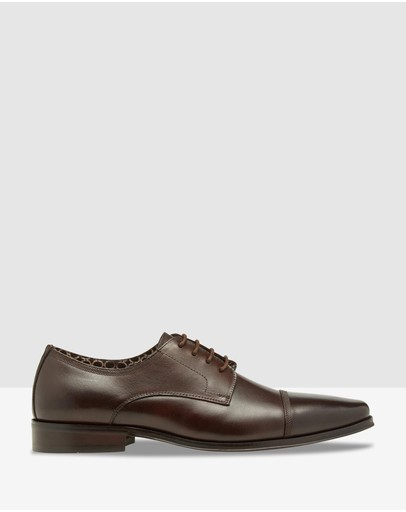 Oxford Eduoard Leather Shoes Dark Brown