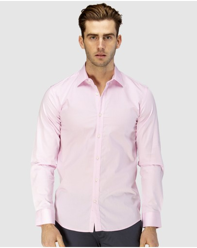 Brooksfield - Career Floating Dot Dobby Business Shirt