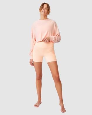 Cotton On Body Active Crop Raglan Fleece Top - Sweats (Fairy Tale)