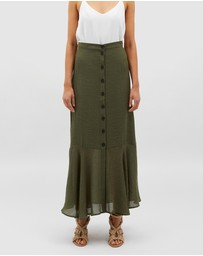 MINKPINK - Logan Button Maxi Skirt
