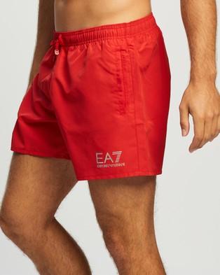 Emporio Armani EA7 - Logo Boardshorts Swimwear (Rosso)