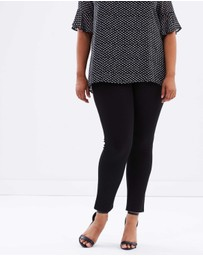 Atmos&Here Curvy - Shelby Ponte Pull On Pants