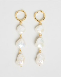 Brie Leon - Triple Pearl Drop V2 Earrings
