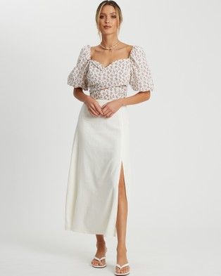 Savel Tamara Blouse - Cropped tops (White Speckle Floral)