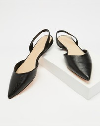 Atmos&Here - Kiss Leather Slingback Flats