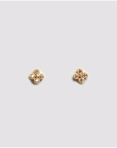 By Charlotte Luminous Gold Stud Earrings