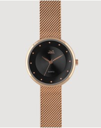 Jag - Ellie Black Dial IP Rose Gold Bracelet 32 mm