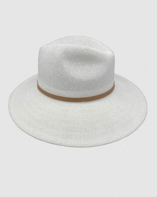 Jacaru Jacaru 1863 Classic White Hat Unisex - Hats (White)