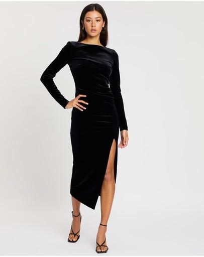 Bec + Bridge Midnight Soiree Ls Midi Dress Black