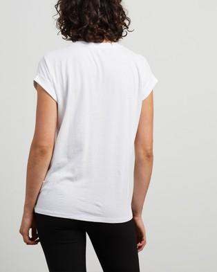 REISS Tereza Cotton Crew Tee - T-Shirts & Singlets (White)
