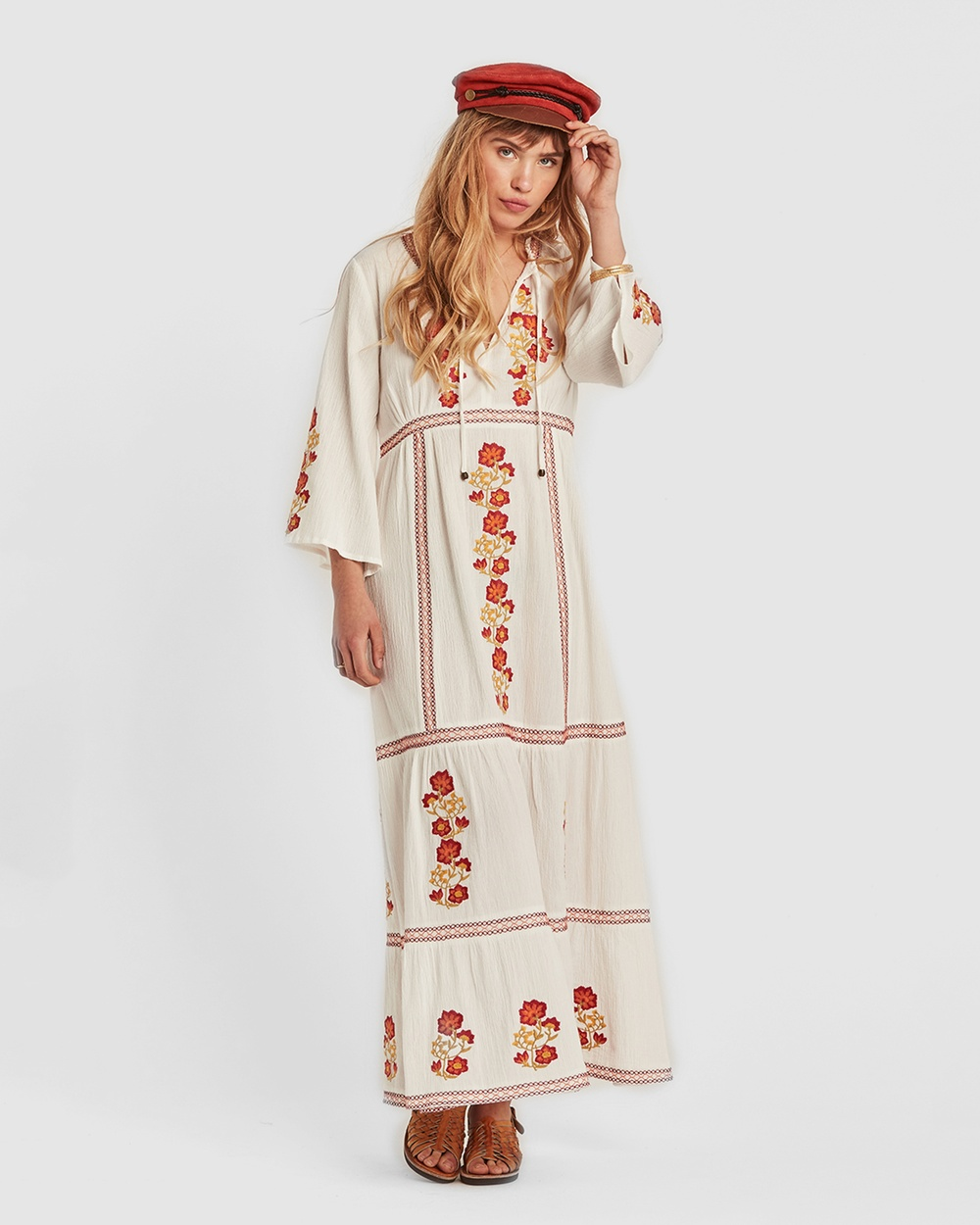 Arnhem White Willow White Maxi Dress