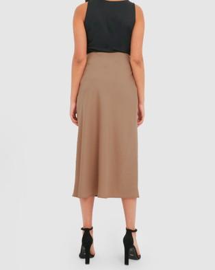 Forcast Dani Slip Skirt - Skirts (Cuban Sand)