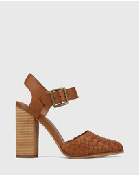 Wittner - Whimsical Leather Block Heel Pumps