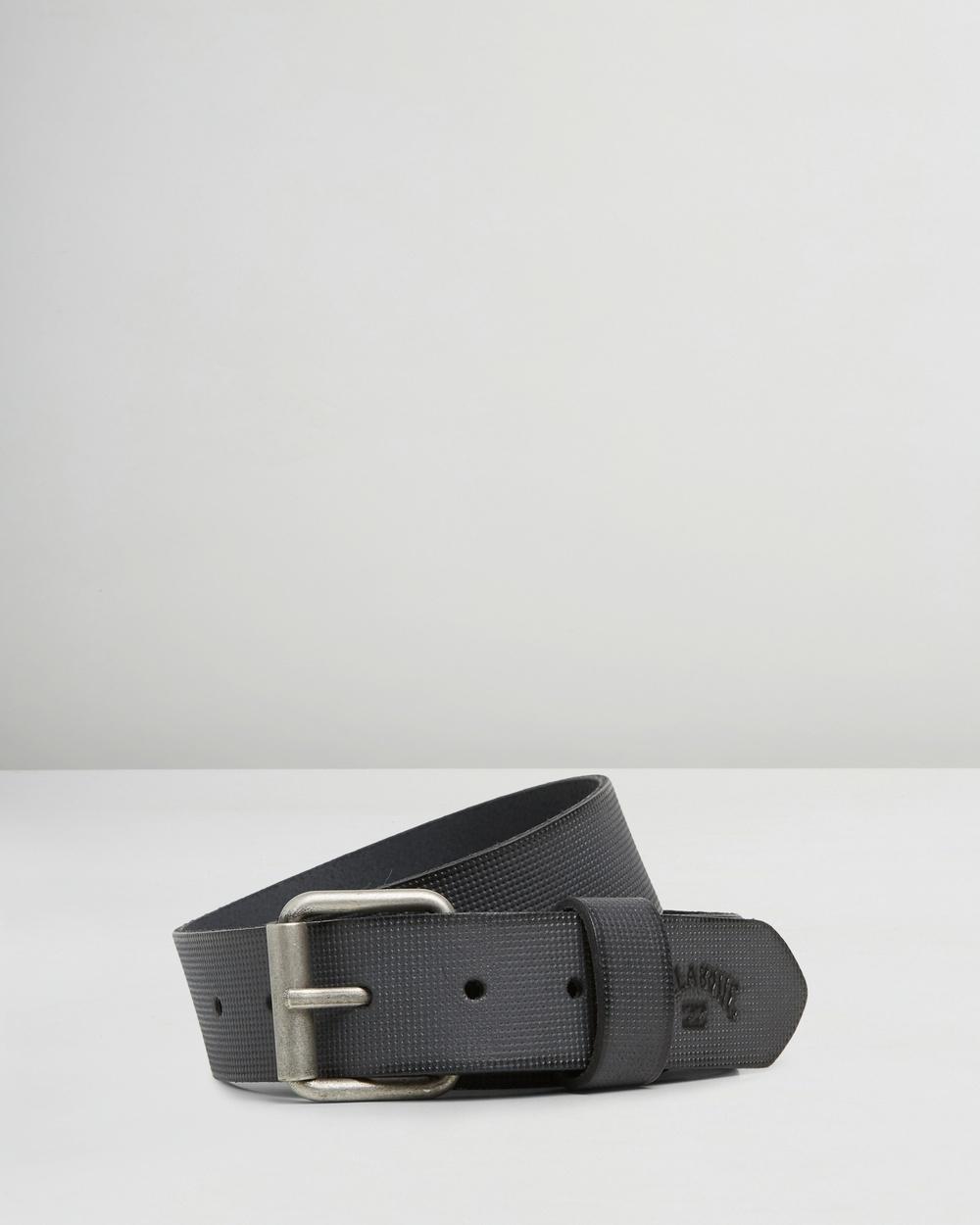 Billabong Daily Leather Belt Belts BLACK