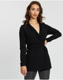 Missguided - Co-Ord Self-Fabric Belted Blazer
