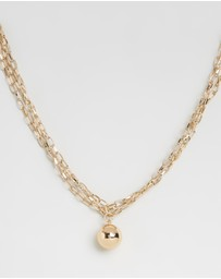 TOPSHOP - Ball Drop Chain Necklace