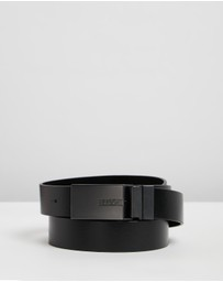 HUGO - Reversible Leather Belt with Interchangeable Buckles