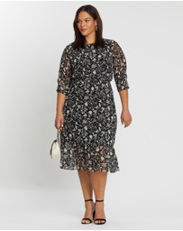 DP Curve - Floral Midi Dress