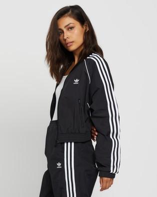 adidas Originals Short Track Top - Coats & Jackets (Black)