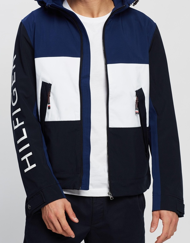 Tommy Hilfiger - Flex Colour Block Hooded Blouson Jacket