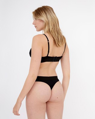 Les Girls Les Boys Ultimate Comfort Jersey Bra - Crop Tops (Black)