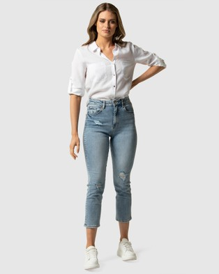 Forever New Bambi Mid Rise Slim Jean - Jeans (MIAMI BLUE)