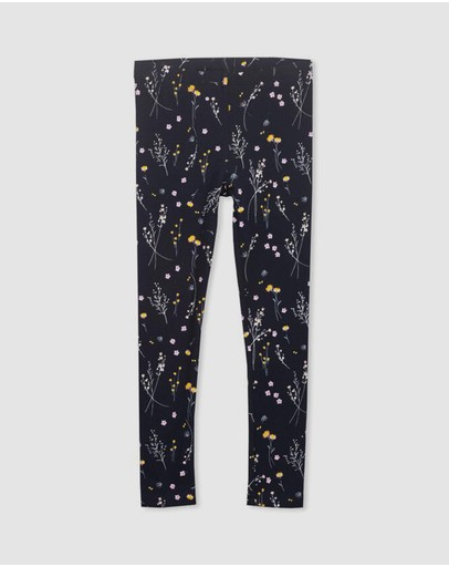 Milky - Winter Floral Leggings - Babies