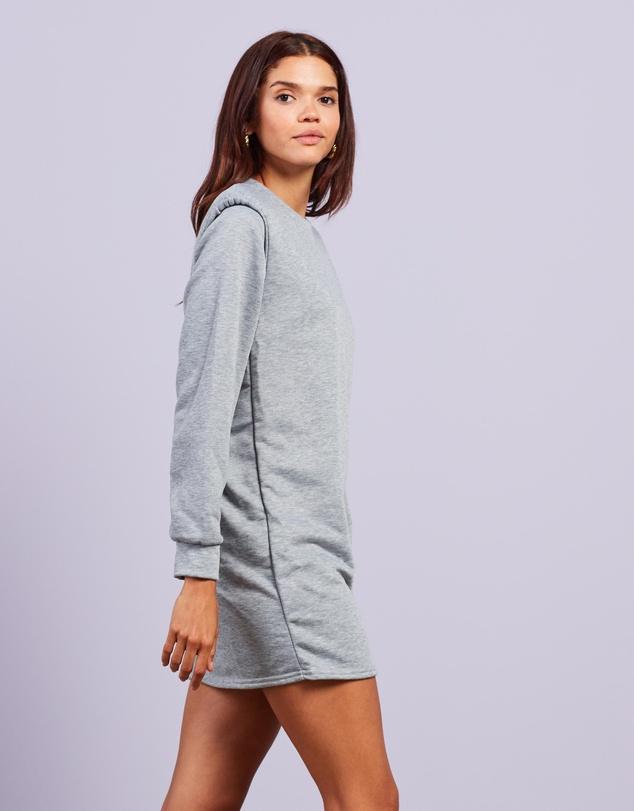 Women Shoulder Pad Sweater Dress