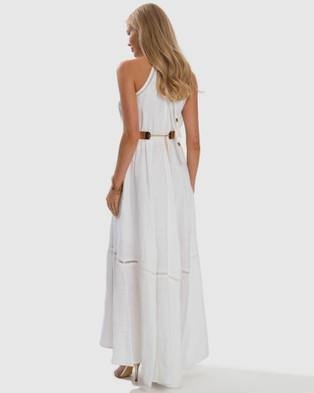 Aqua Blu Australia Serenity Apollo Maxi Dress - Dresses (White)