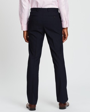 Kent and Curwen Pleated Dress Pants - Pants (Blue)