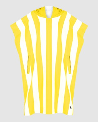 Dock & Bay Small Poncho Adult 100% Recycled Cabana Collection - Pool Towels (Yellow)